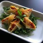 Conchiglioni met pastasaus en rucola