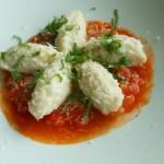 Gnudi di Ricotta met tomatensaus