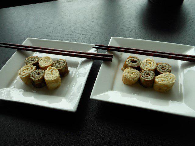 Ontbijt variatie - omeletsushi