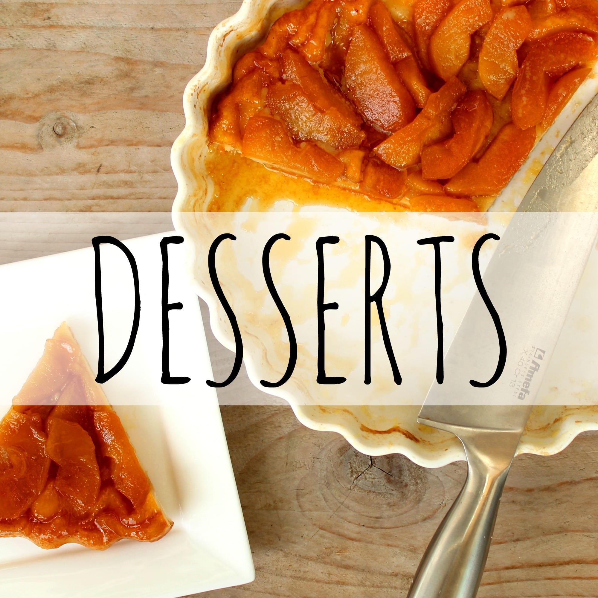 overzicht desserts