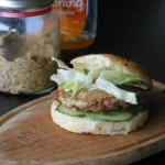Hamburgers met appel en mosterd-honing saus
