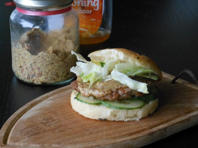 hamburger met appel