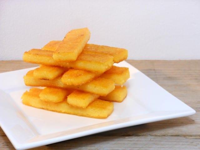 Polenta frietjes maken