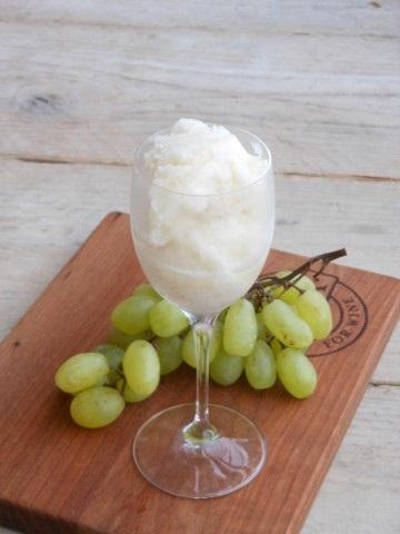 Witte druiven granita