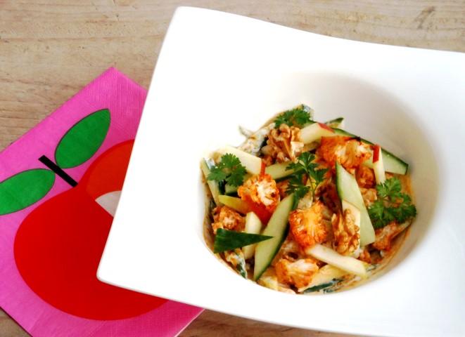 Warme bloemkoolsalade met sriracha