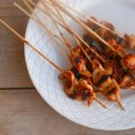 Kipspiesjes in zelfgemaakte teriyaki saus