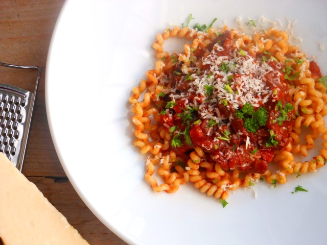 Wild zwijn ragout met pasta