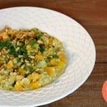Parelgort risotto met pompoen