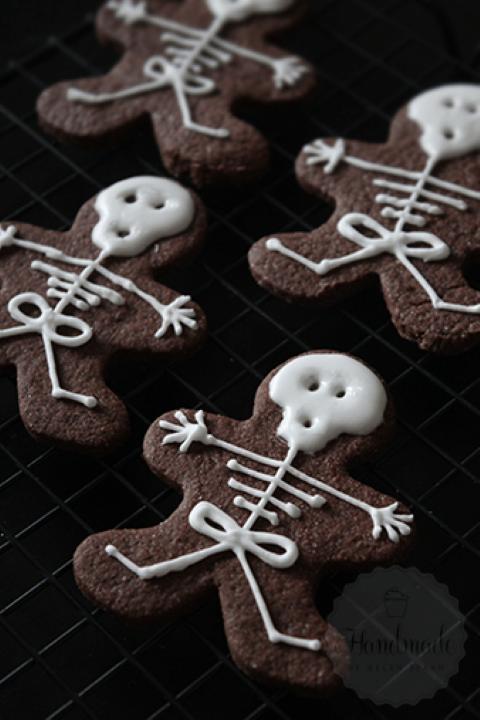 Halloween Hapjes: Skelet koekjes