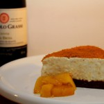 Cheesecake met speculaas en kweepeercompote