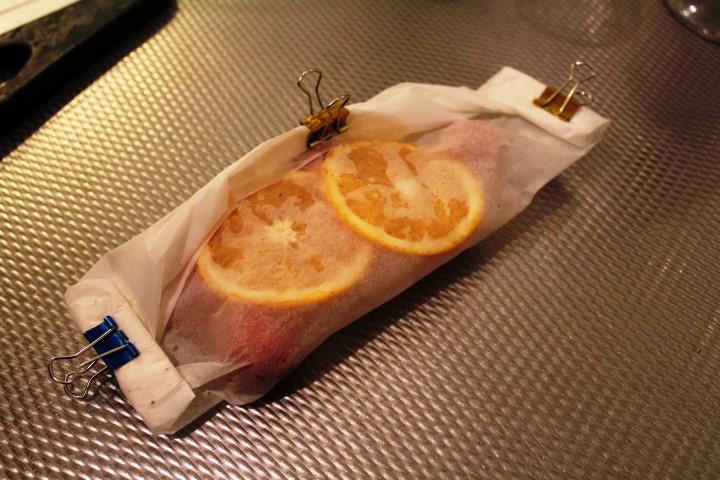 Vispakketje uit de oven