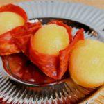 Meloen chorizo snack