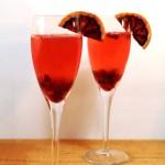 Cava cocktail met bloedsinaasappel