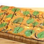 Spinazie plaattaart met mozzarella
