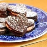 Browniekoekjes met bloedsinaasappel botercréme