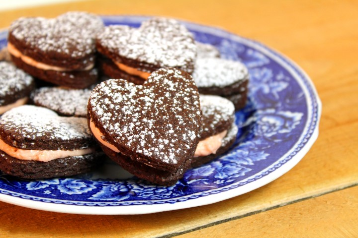 Brownie koekjes met bloedsinaasappel botercréme