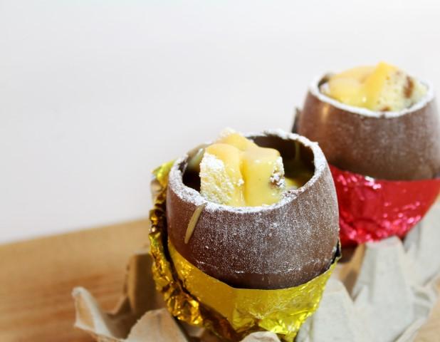 Gevulde chocolade paaseitjes met advocaat