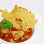 Lasagne soep met kaaskoekje