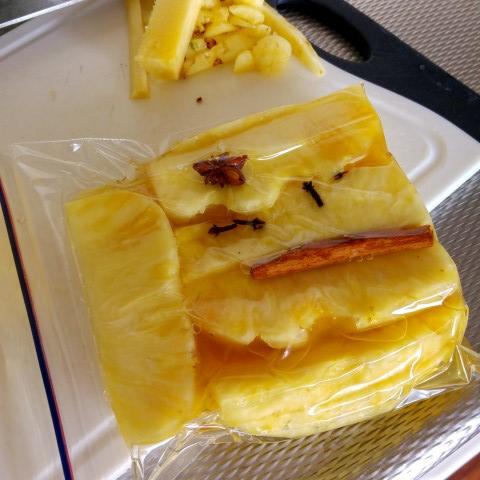Gegrilde ananas van de bbq