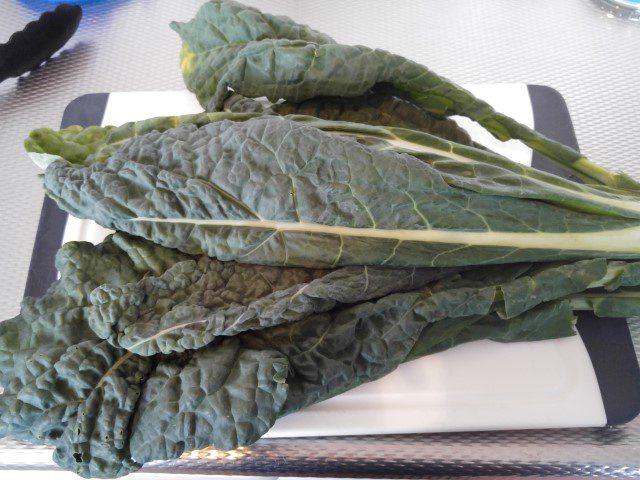 Cavolo nero pesto met tagliatelle en lamsgehakt