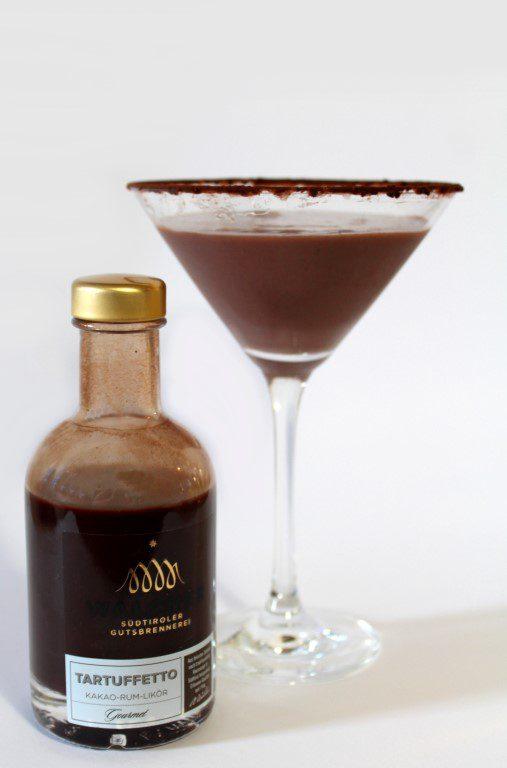 Zuid-Tiroolse chocolade martini met Walcher tartuffetto