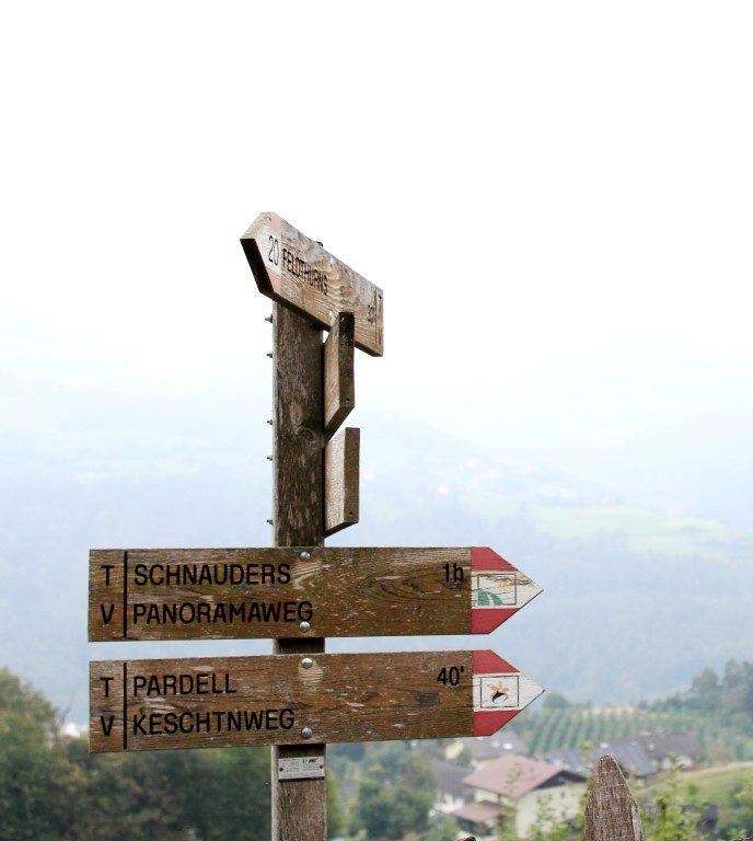 Wandelen op het Kastanjepad (Keschtnweg) in Zuid-Tirol!
