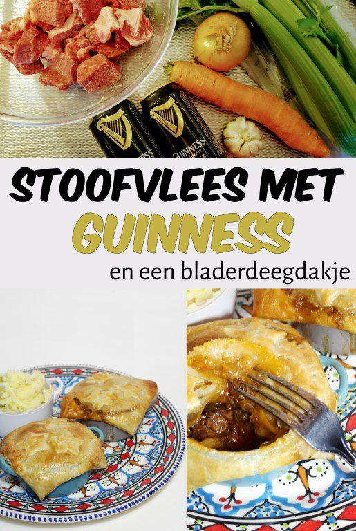 Stoofvlees met Guinness en een bladerdeegdakje