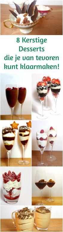 8 Kerstrecepten voor makkelijke desserts