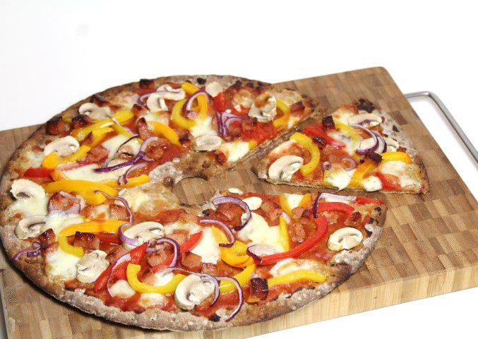 Knäckebröd pizza
