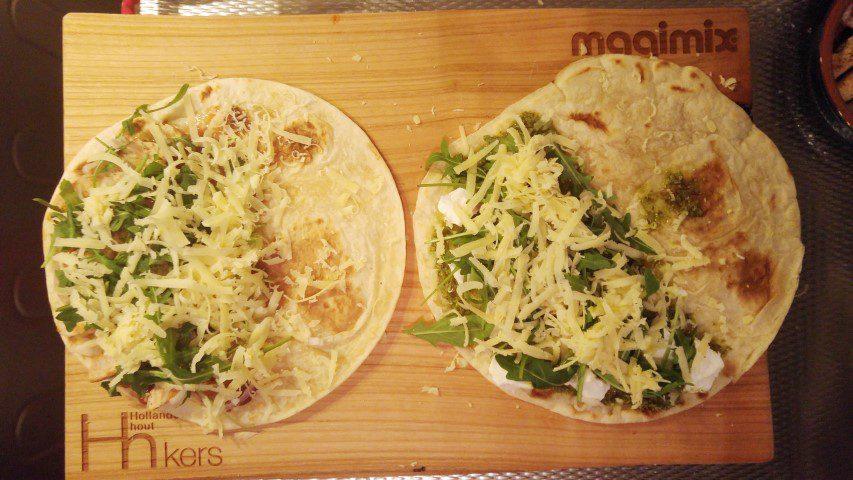 2x Piadina's! (met kip en vegetarisch)