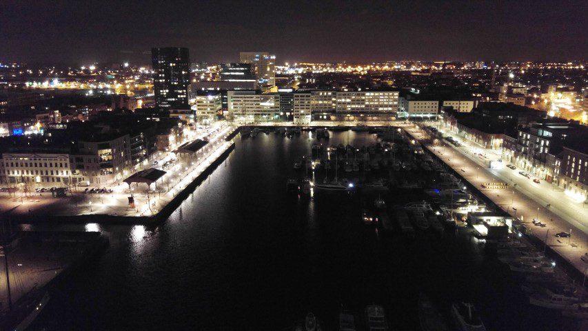Het Eilandje van Antwerpen - Uitzicht vanaf het MAS over Antwerpen
