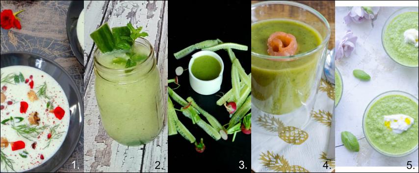 5x komkommer soep & sap