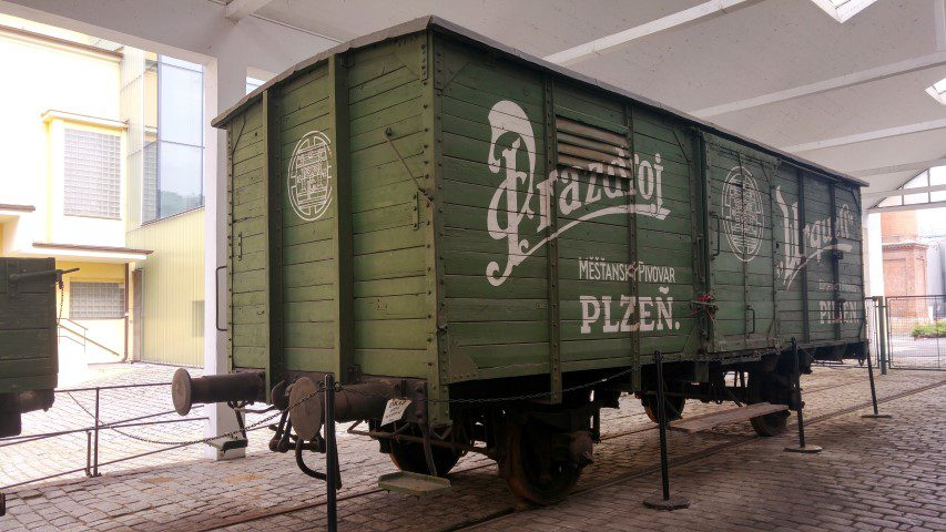 Pilsner Urquell Brouwerij - trein