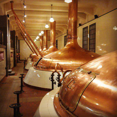 Pilsner Urquell Brouwerij - ketels