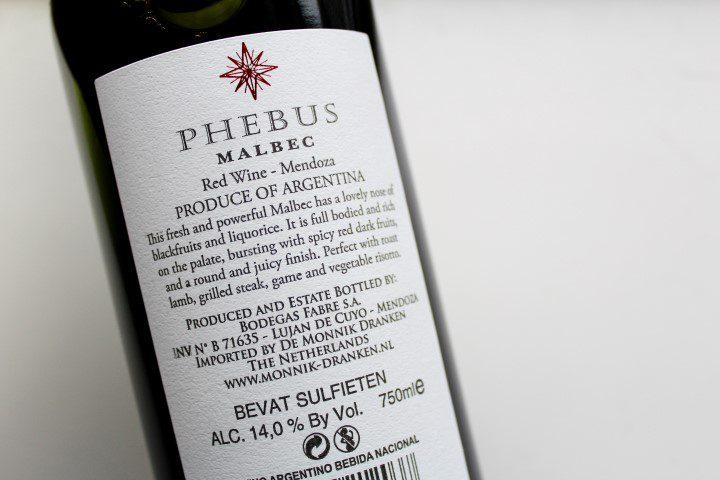 Phebus Malbec 2016