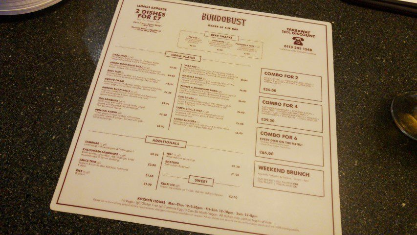 Leeds tips: Bundobust Vegetarian Indian Streetfood