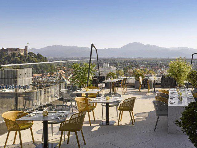 7 eet- en drinktips voor Ljubljana - Intercontinental rooftop bar