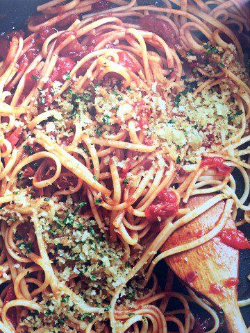 Bloody Mary pasta