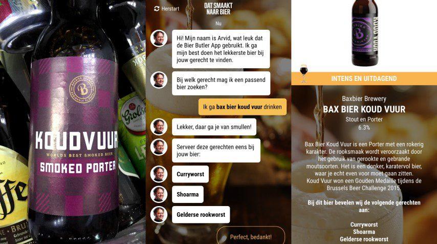 Bier Butler App - Bax Koud Vuur met rookworst