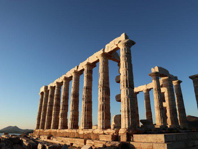 De geuren, kleuren en smaken van Attica - Tempel Poseidon Cape Sounion