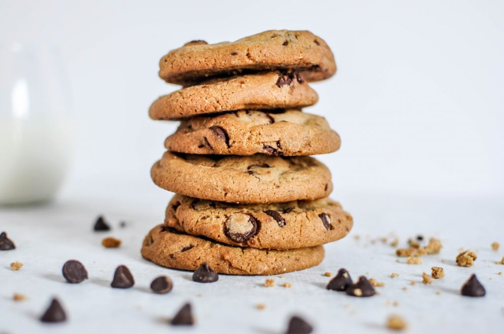 Chocolate chip cookie met macadamia