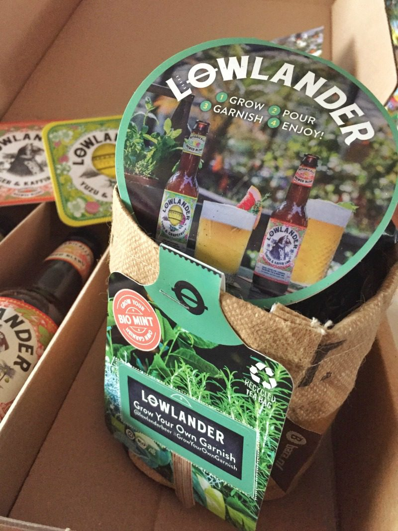 Lowlander Beer grow your own garnish