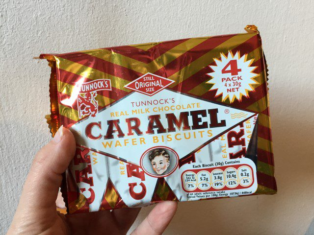 Tunnock's Milk Chocolate Coated Caramel Wafer Biscuit