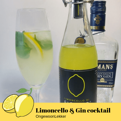 Limoncello en Gin cocktail