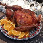 Lekker met Kerst: gevulde kalkoen uit de oven met sinaasappel-bourbonjus