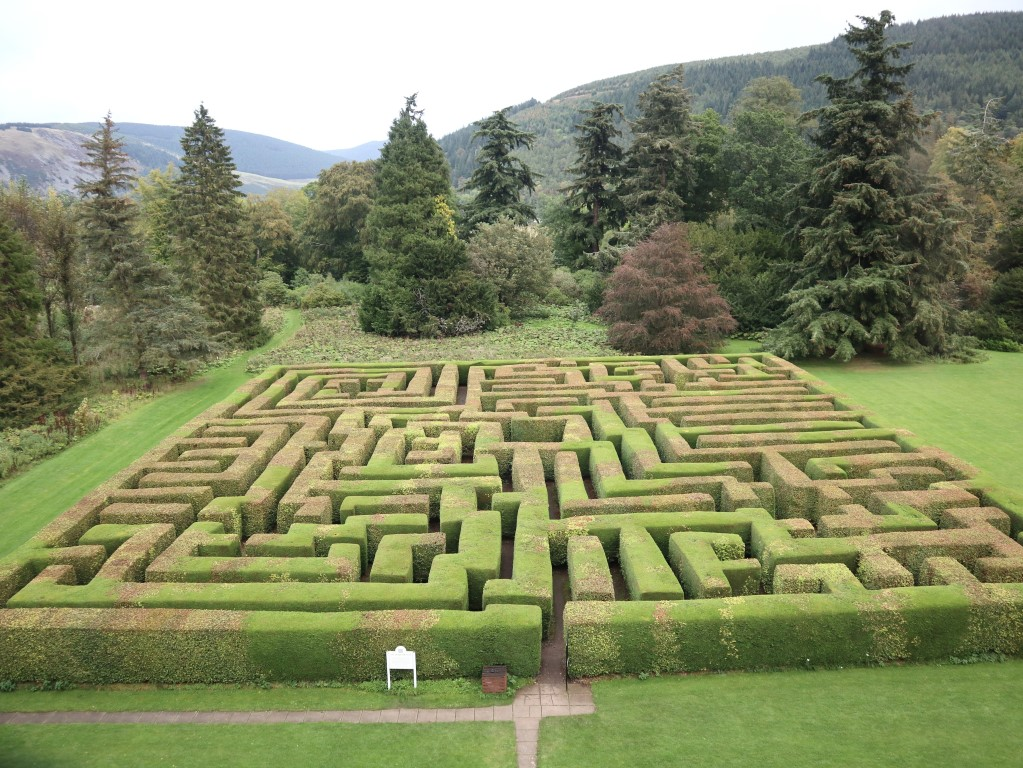 Traquair House maze