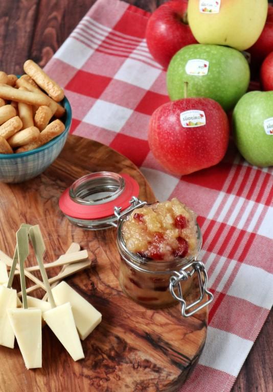 Zuid-Tiroolse appelchutney met cranberries en gember