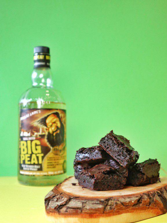 Big Peat whisky brownies