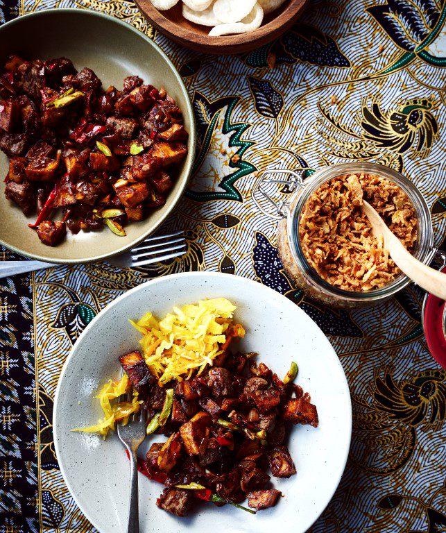 Sambal goreng daging sapi kentang - Bersama