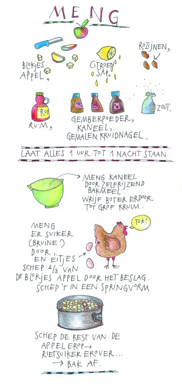 Appel cake met rum-rozijnen van Yvette van Boven